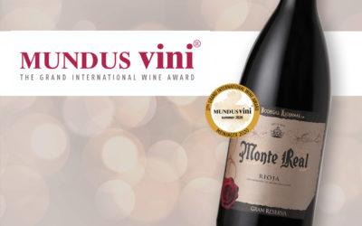 MONTE REAL GRAN RESERVA 2012, BEST OF SHOW en el Concurso Internacional Mundus Vini