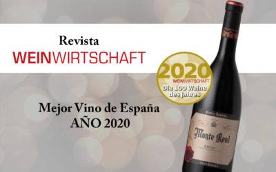 """MONTE REAL GRAN RESERVA 2012, """"Mejor Vino de España del AÑO 2020"""""""